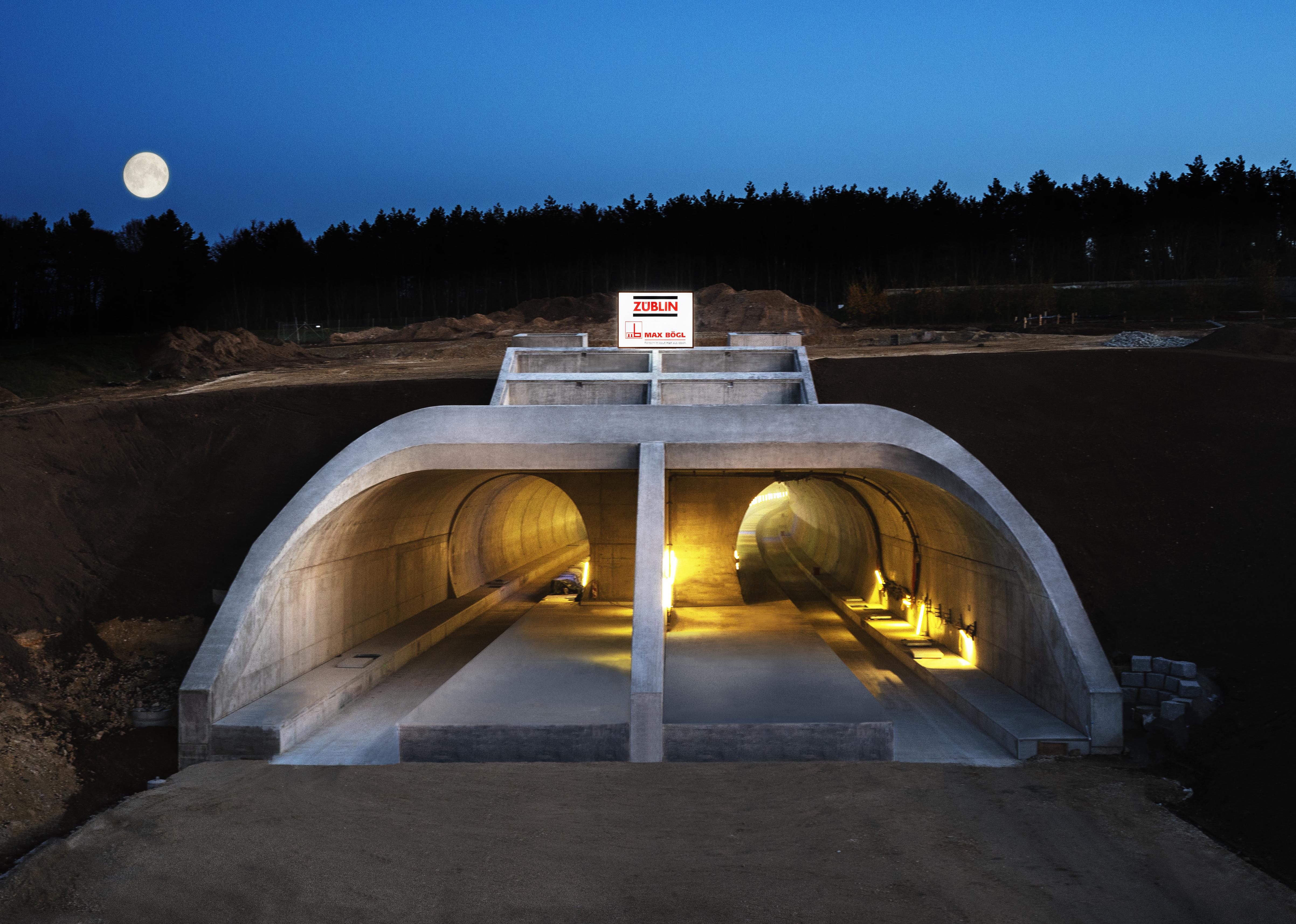 Albabstiegstunnel Portal Dornstadt (Foto: DB PSU / ARGE Tunnel Albabstieg)
